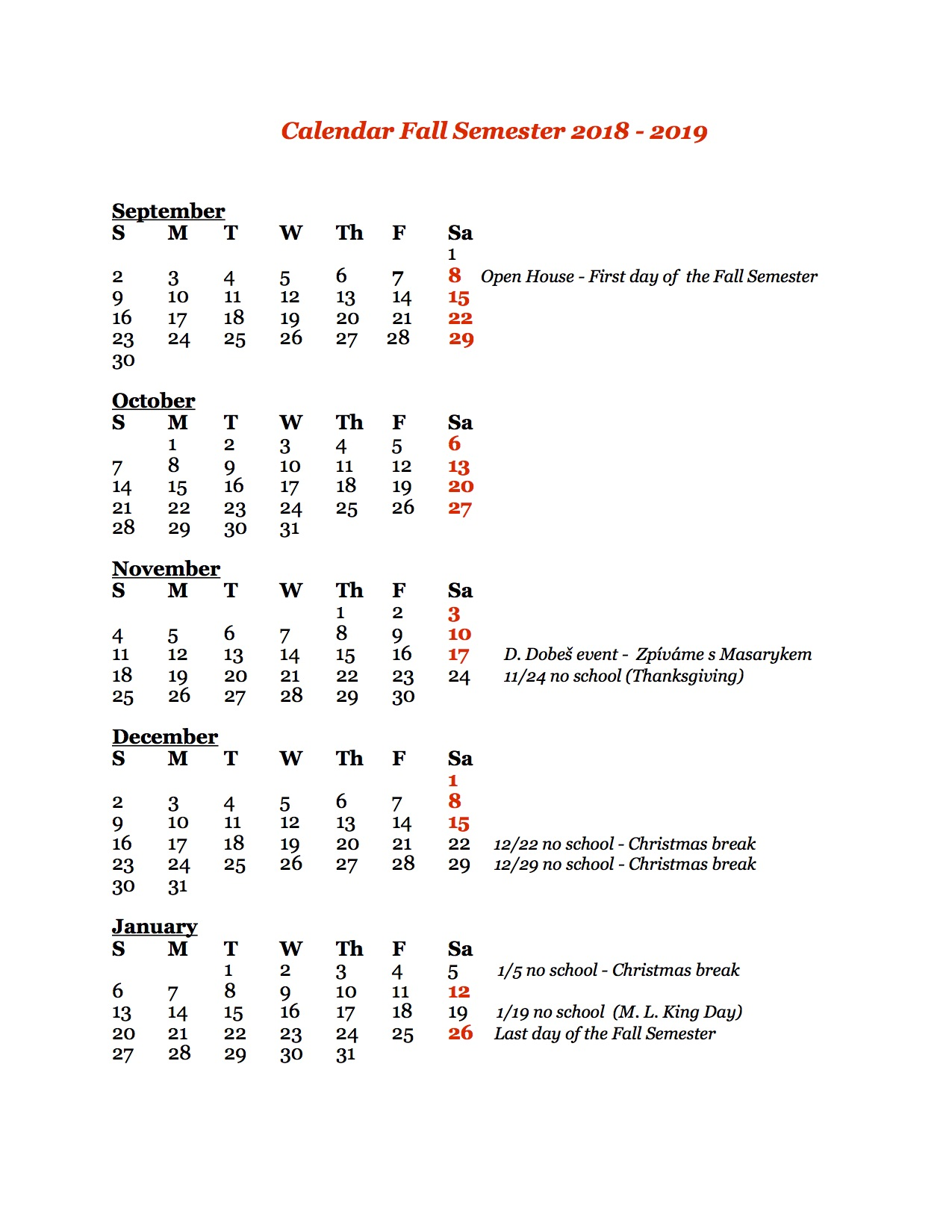 kalendar pro rodice Fall 2017