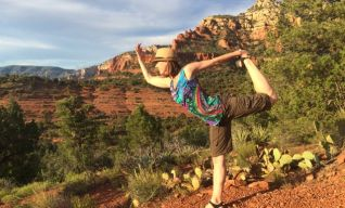 Hiking & Yoga is a great combination!