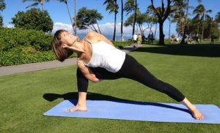 Petra practicing her yoga