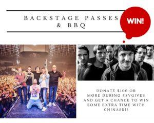 Backstage passes & BBQ