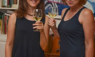 Czech language teacher Zuzana and Elizabeth B. from the school board