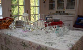 Czech wine and Slivovitz were also served!