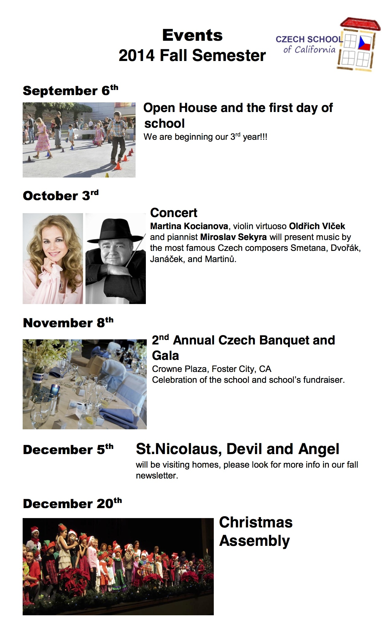 events Fall 2014